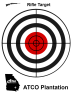 ATCO Plantation - Red and Black Bullseye Rifle Target